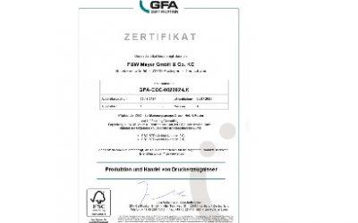 Wir sind FSC zertifiziert!