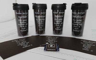 Personalisierte Kaffeebecher to go